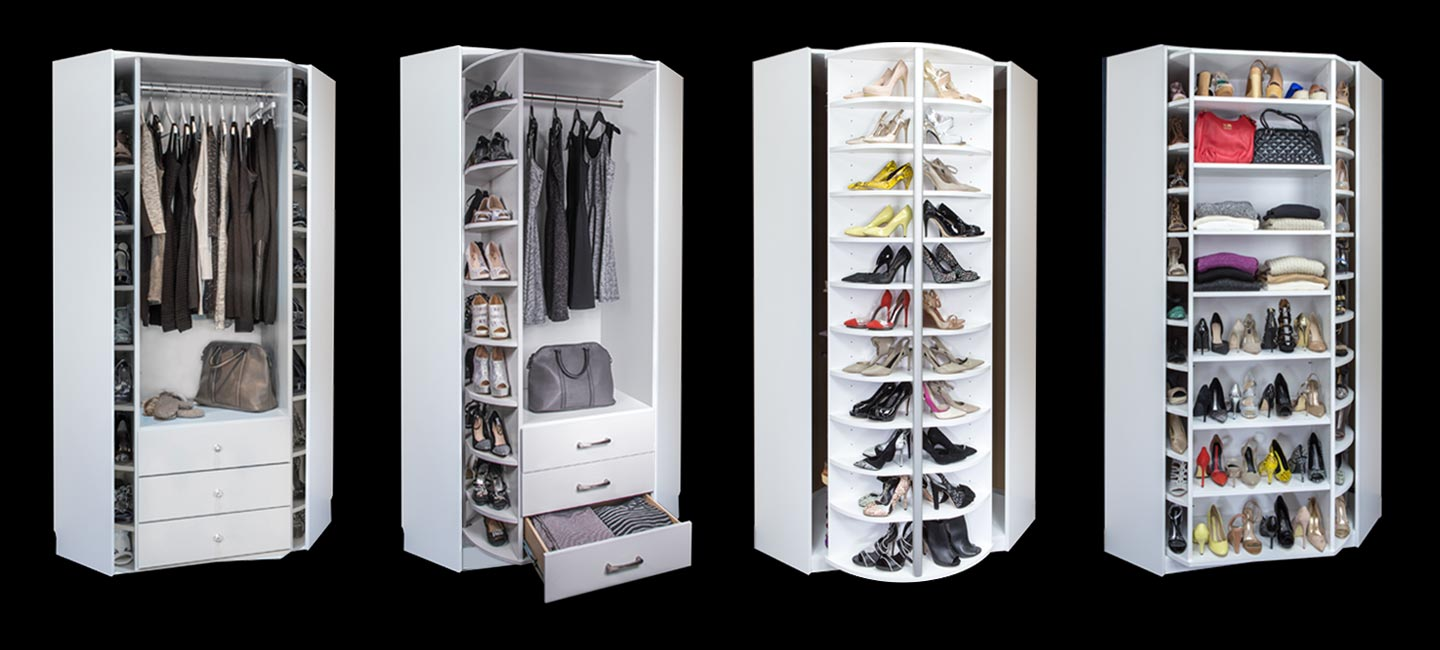 Closet with 360 Organizer Valet with standard cabinet