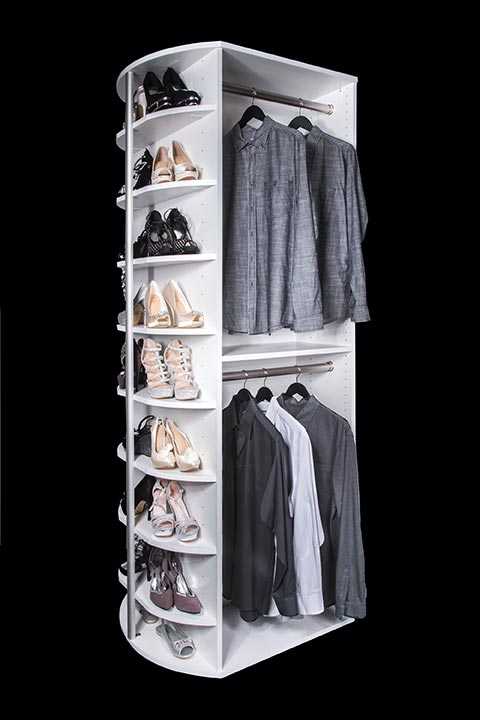 Double hang with closet shoe shelves By Lazy Lee