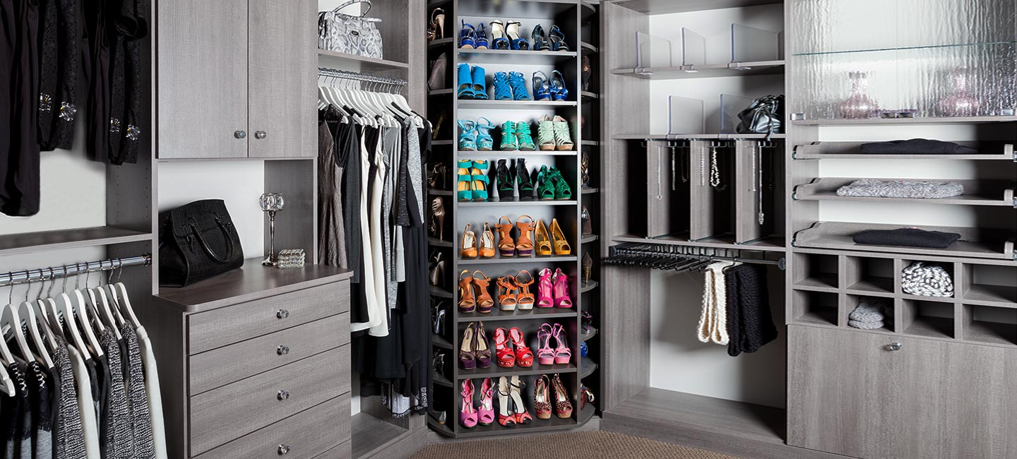 The 360 Shoe Closet Organizer holds up to 200 pairs of shoes