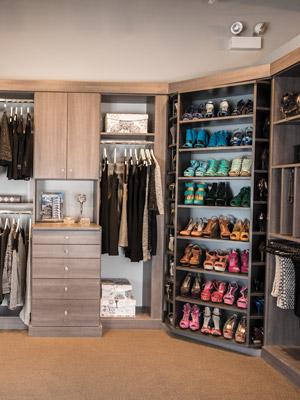 custom closet organizer - 360 Organizer valet and shoe spinner