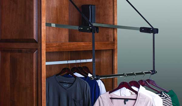 wheelchair accessible pull-out shelves for closet
