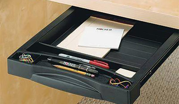 Pull-out pencil tray