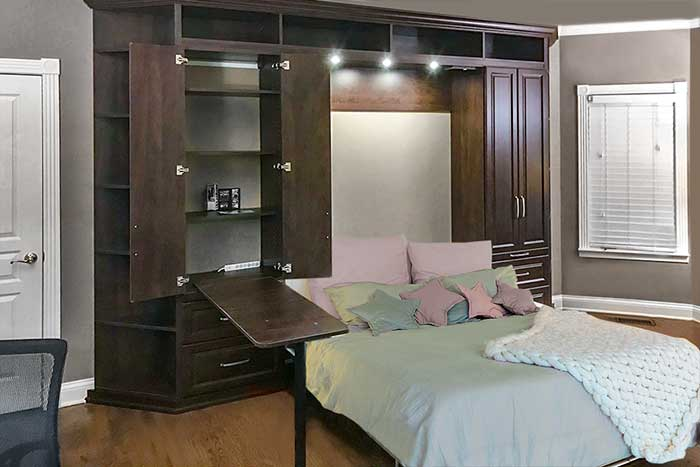 Murphy bed with cabinetry