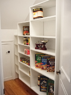 sloped ceiling pantry closet design