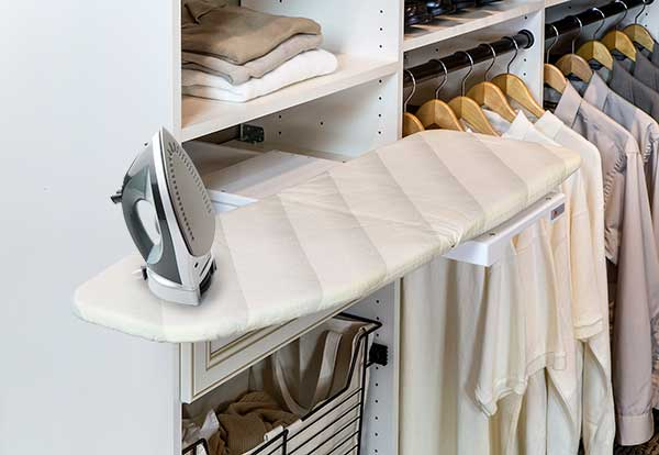 built in ironing boards for closet