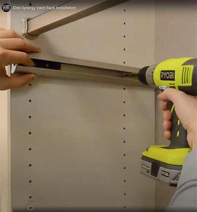 How to install a pull-out valet pole in your closet