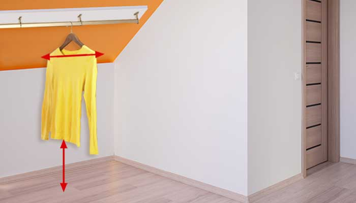 How to Install Closet Rods on a Slanted Ceiling