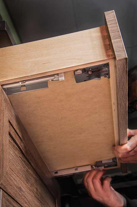 How to remove a drawer with undermount slides.