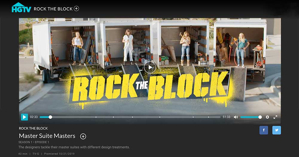 Closet Works featured in the October 2019 episode of Rock the Block with Alison Victoria on HGTV