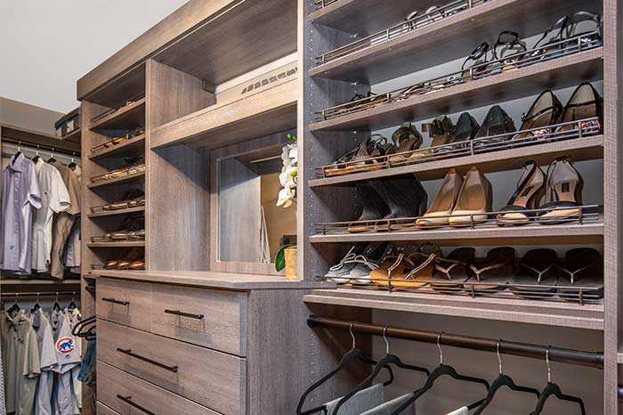 home storage shelving solutions for the bedroom closet