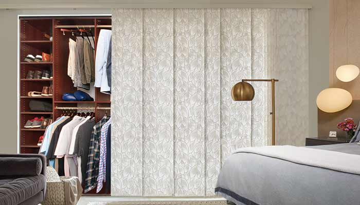 Wheelchair accessible closet design using a Skyline window treatment instead of door