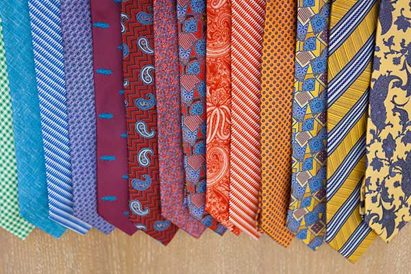 how to store ties