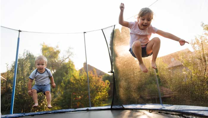 Kids of every age like to burn off energy on a trampoline