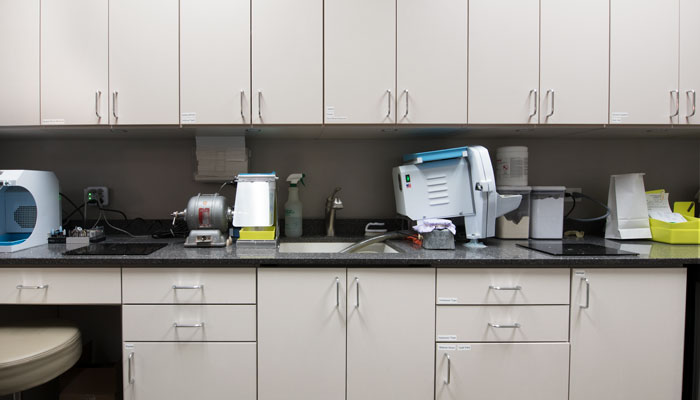 custom counterspace for laboratory equipment
