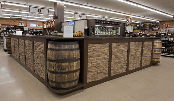 Custom Wine Tasting Center in Beer and Wine Store
