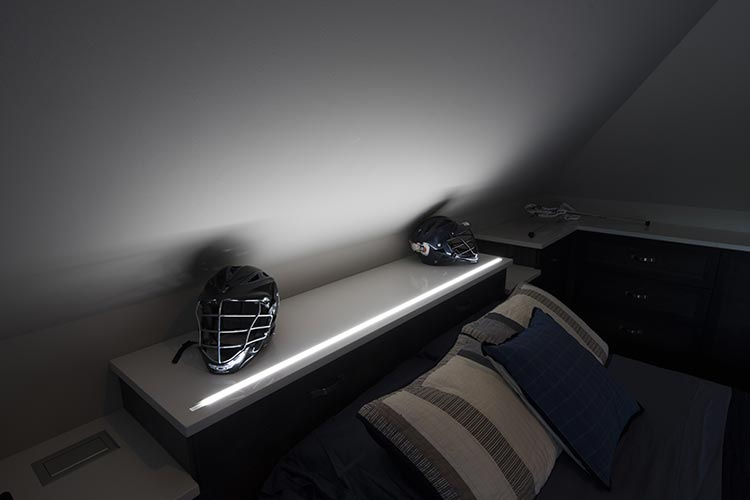 custom LED closet lights for bed headboard