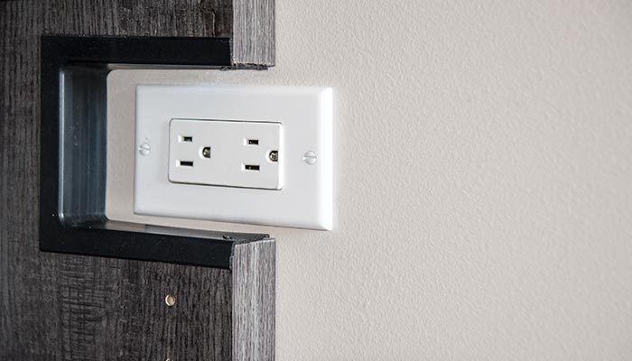 Electrical cut-out ensures no outlets are blocked