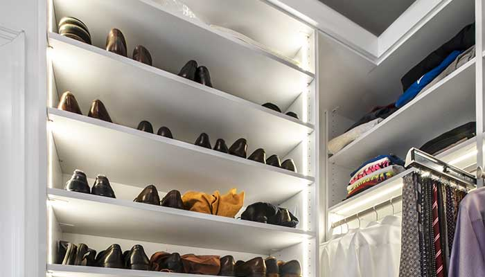 Extend closet shelves to the ceiling in a small closet