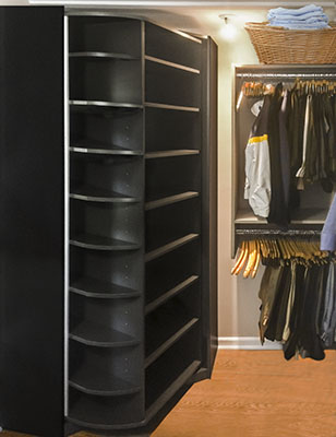 custom closet organizer with 360 Organizer Shoe Spinner shoe closets system