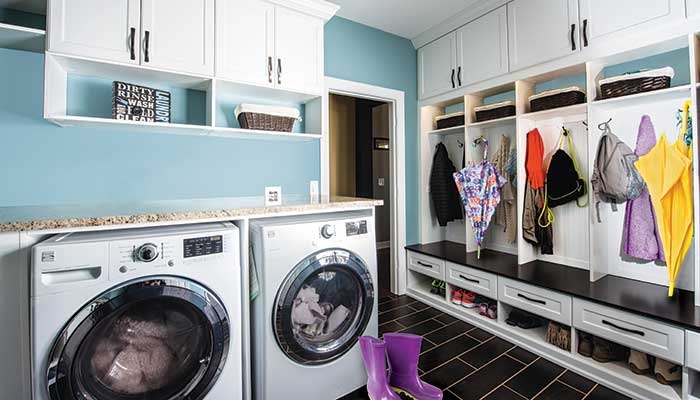 Mudroom/Laundry Room Combination Space