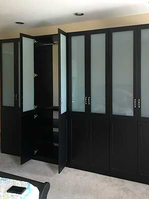 large wardrobe closet for dressing room