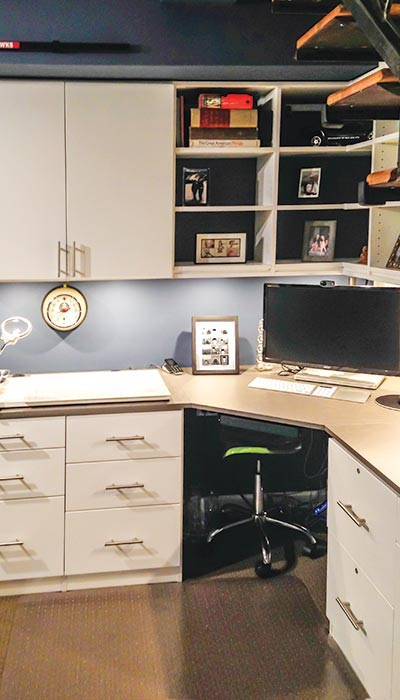 basement desk ideas and wall unit for home office