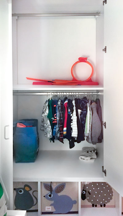 adjustable closet hanging rods for baby clothes used in storage cabinets