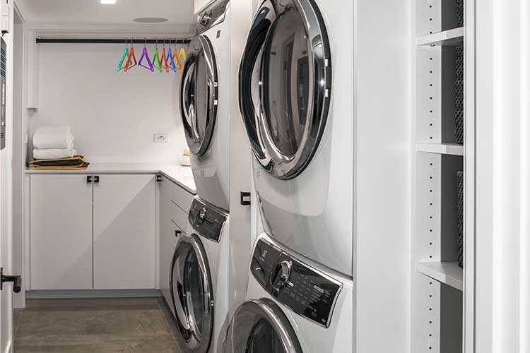 Laundry room storage ideas for basement laundry