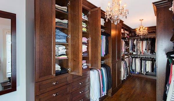 Custom Luxury Walk in Closets ideas in Solid Wood