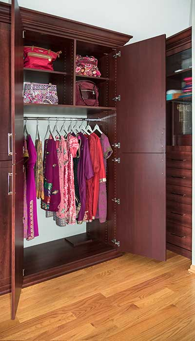 Right section of wardrobe closet