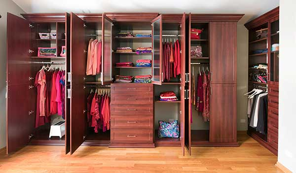 Wardrobe Closet for Bedroom with Cathedral Ceiling