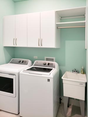 laundry cabinets make organization easier