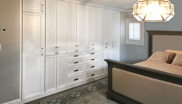 Bedroom built-in storage