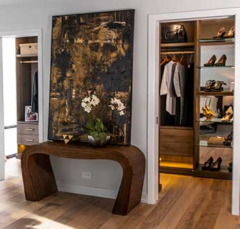 View of entrance to galley style closet