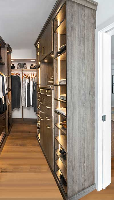 Interior view of galley closet