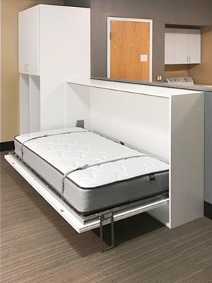 wall bed unit design for educational center