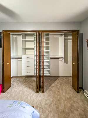 Double reach-in closet design