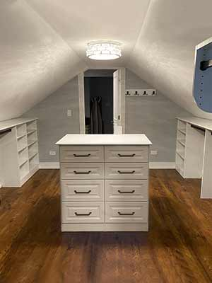 Attic Closet with sloped ceiling