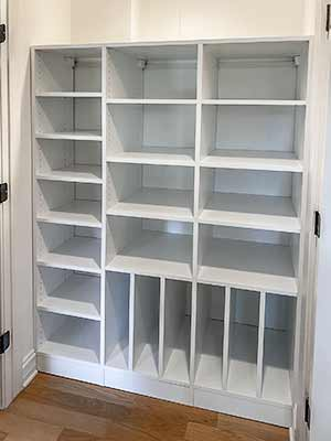 Reach-in pantry for extra kitchen storage