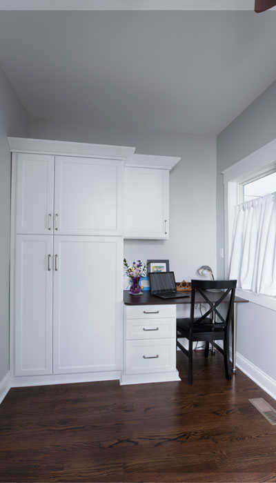 utility closet and office mud room design