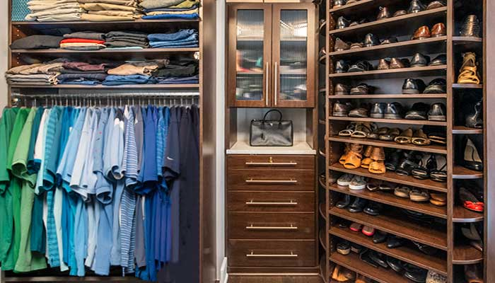 A closet hutch is an effective small closet idea to increase storage