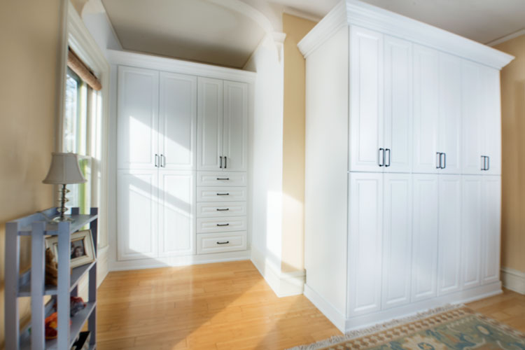 armoir style wardrobe closet for historic Victorian home