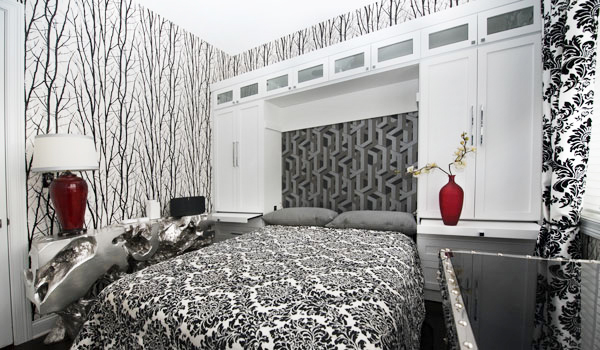 modern wall beds designed with wall storage