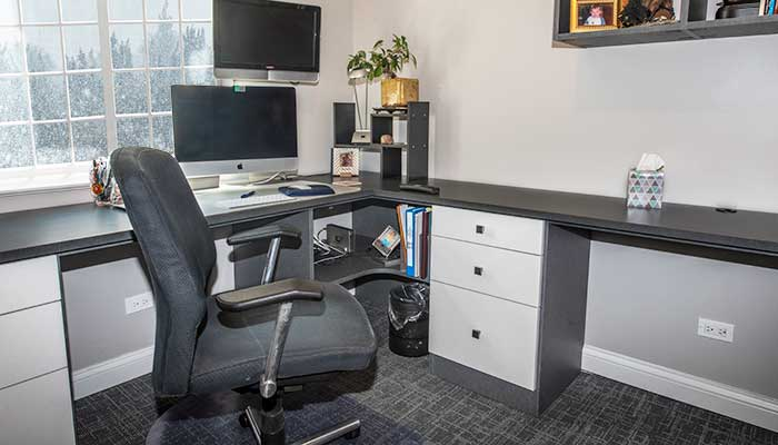 double office desks for modern home office