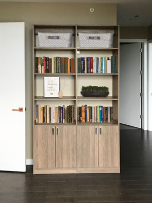 custom wall unit for home office