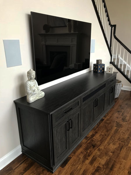 Home entertainment center built-in
