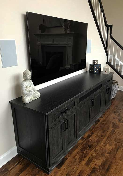 entertainment center for home stereo system