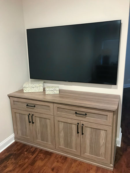 bedroom TV stand and entertainment center