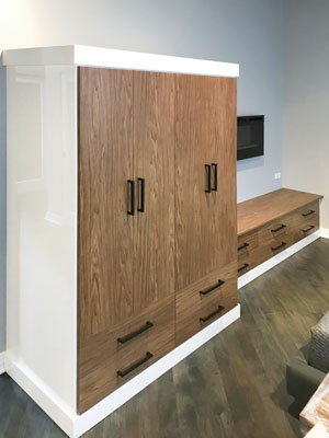 stylite and viva wardrobe with bench drawers