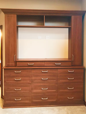 corretto cherry master bedroom entertainment center storage